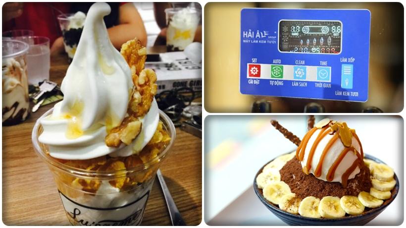 bảng điều khiển của máy làm kem