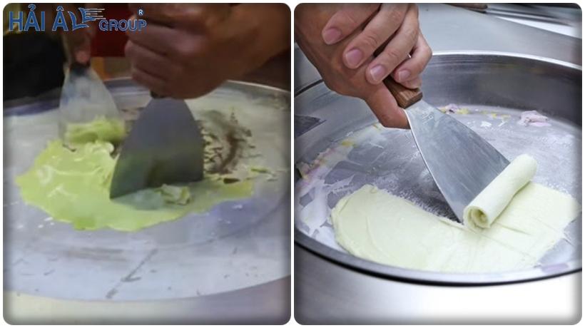 cửa hàng kem cuộn thái lan