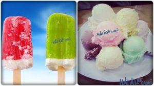 kem que và kem ký được làm từ máy làm kem